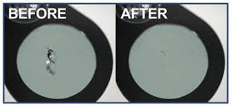 Windshield Repair Before & After